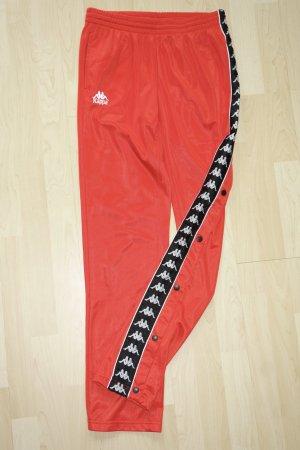 Org. KAPPA Track Pant in rot mit seitlichen Knöpfen und Logos Gr.L wie neu