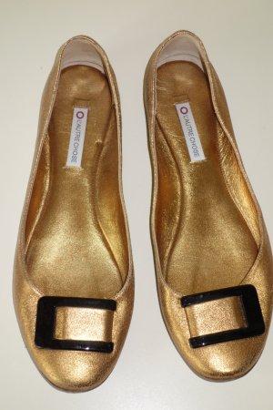 Org. L'AUTRE CHOSE Ballerinas in gold mit Spangen Gr.40