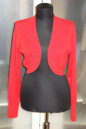 Laurèl Bolero lavorato a maglia rosso