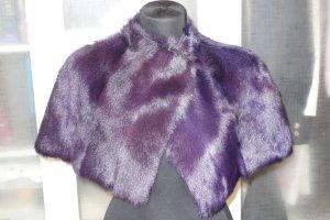 Laurèl Mantella viola scuro Pelliccia