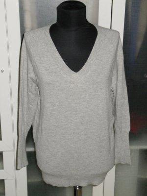 Org. LAUREL Pullover Woll-Kaschmir-Mix grau Gr.38