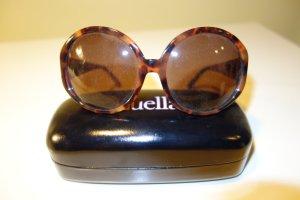 Org. LINDA FARROW x LUELLA oversized Sonnenbrille in braun mit Muster NEU