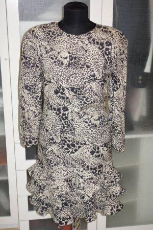 Org. LOUIS FERAUD vintage Seidenkleid mit Geparden-Print Gr.40