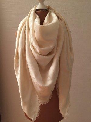Org. Louis Vuitton Monogram Tuch Schal in weiss