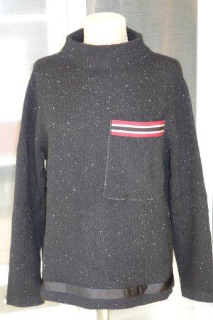 Org. LUISA CERANO Pullover kastenförmig Stehkragen Melange Gr.42