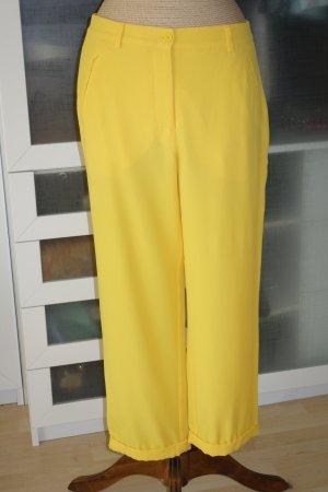 Org. M MISSONI lässige Sommerhose aus Seidenmix in gelb Gr.36