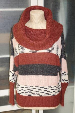 Org. M MISSONI Woll-Pullover mit XL Rollkragen und Lurex Gr.M