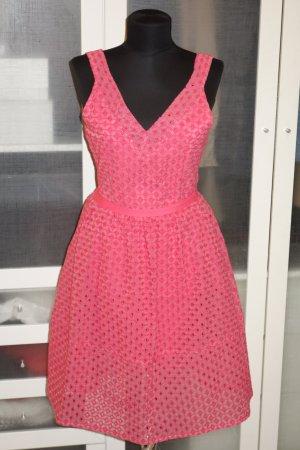 Org. MAJE Kleid mit tollem Stoff in rosa Gr.36