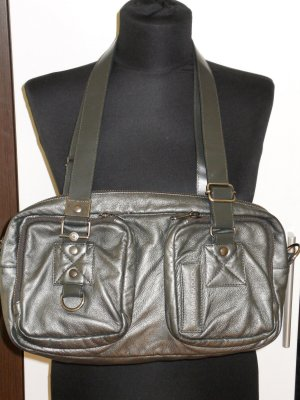 Org. MANDARINA DUCK Ledertasche metallic top Zustand