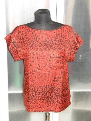 Org. MARC by MARC JACOBS oversized Seiden-Shirt/Top Animalprint Gr.XS