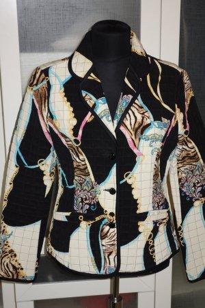 Org. MARC CAIN Jacke im Blazer-Stil aus Seide mit Print Gr.36