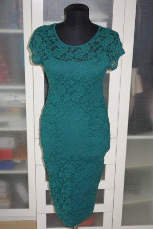 Org. MARC CAIN Kleid aus Spitze in grün Gr.34