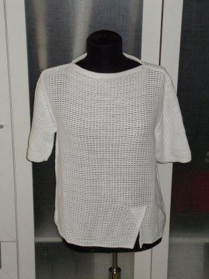 Org. MARC CAIN Kurzarm-Strick Shirt weiß Gr.38