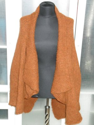 Org. MARC CAIN oversized Grobstrickjacke dunkel-orange