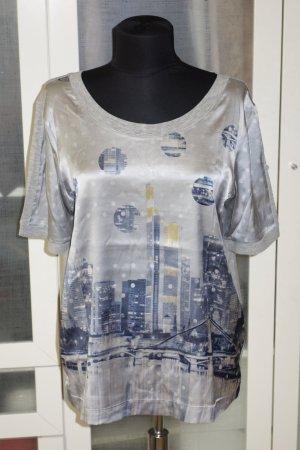 Org. MARC CAIN Shirt Seide/Baumwolle mit Print Gr.38/40