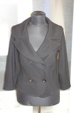 Org. MARC CAIN Woll-Blazer in schwarz Wolle/Kaschmir Gr.38