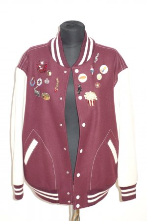 "Org. MARC JACOBS Runway oversized College-Bomberjacke ""Rainbow"" aus Wolle mit Applikationen Gr.S"