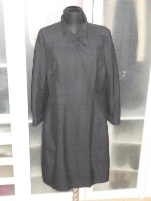 Org. MARNI Runway Mantel aus Seide dunkelblau Gr.40