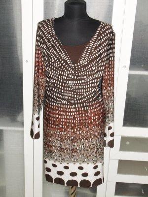 Org. MASSIMO DUTTI Jersey Kleid mit Musterung Gr.36
