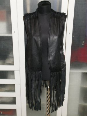 Mauritius Leather Vest black