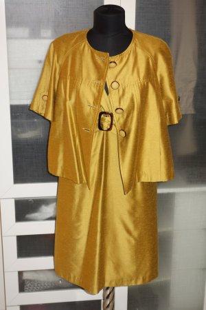 Org. MAX MARA Kombination Kleid/Jacke in senfgelb Gr.42