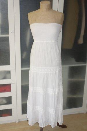 Org. MELISSA ODABASH Maxi-Bustierkleid in weiß Gr.S