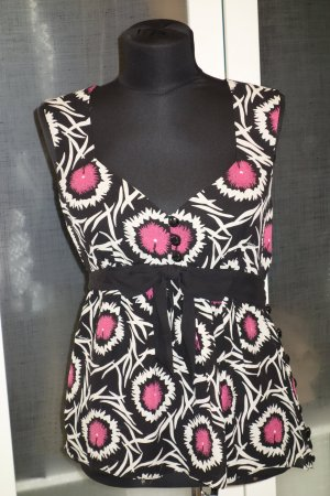 Org. MILLY New York Top aus Seide mit Print Gr.36