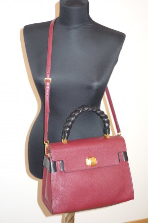 Miu Miu Tote bordeaux-black leather