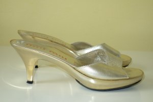 Miu Miu High-Heeled Sandals gold-colored