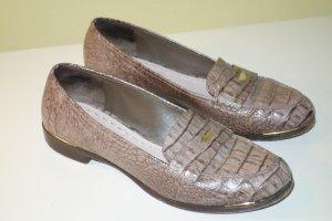 Org. MIU MIU Slipper/Loafer mit Krokoprägung Gr.38