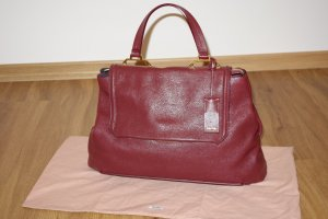 Miu Miu Tote bordeaux leather