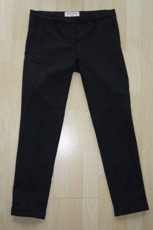 Monocrom Wollen broek zwart Scheerwol