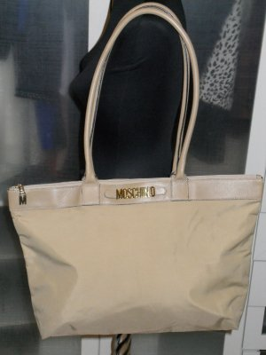Org. MOSCHINO vintage Shopper aus Nylon beige
