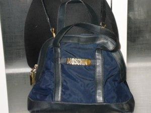 Org. MOSCHINO vintage Umhängetasche/Henkeltasche dunkelblau