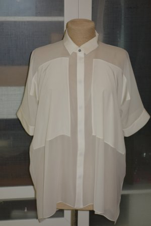 Oversized Blouse natural white silk