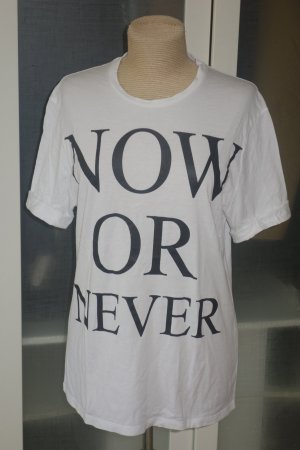 "Org. NEIL BARRETT oversized Shirt ""Now Or Never"" in weiß Gr.S sold out"