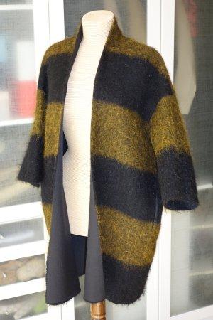 United nude Knitted Coat dark blue-dark yellow