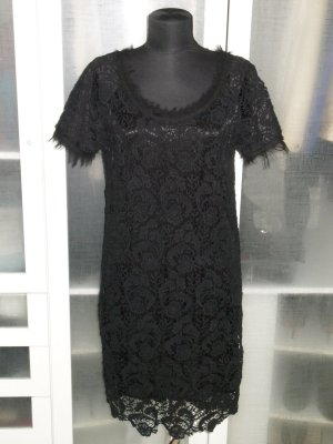 Org. OUI collection Spitzen-Kleid in schwarz Gr.38