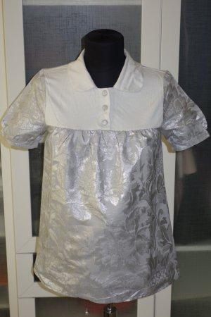 Org. OUI Set Shirt/Kurzarmbluse mit Brockat NEU+Etikett