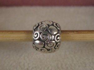 Org. Pandora Charm Silber Schnecken Muster