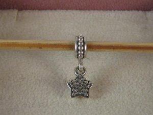 Org. Pandora Charm Silber Zwischenelement Anhänger Stern