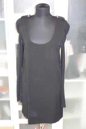 Org. PATRIZIA PEPE Kleid in schwarz mit Schulterklappen Gr.38