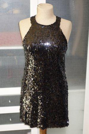 Org. PATRIZIA PEPE Pailletten-Kleid schwarz Gr.36
