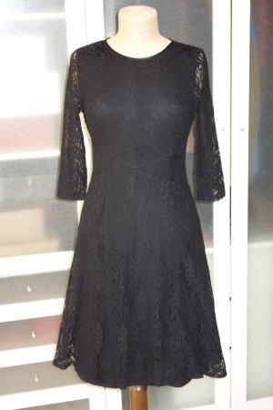 Org. PATRIZIA PEPE Spitzen-Kleid in schwarz Gr.36