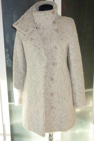 Org. PATRIZIA PEPE Woll-Mantel in hellgrau Wolle/Alpaca Gr.38