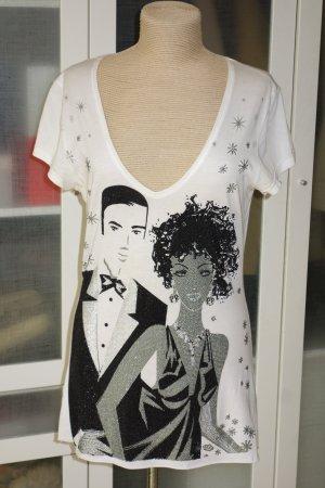 Org. PHILIPP PLEIN limitiertes Shirt mit Swarovskisteinen Gr.42/L