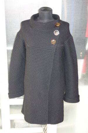Org. PIAZZA SEMPIONE Strickmantel/long Strickjacke schwarz 36