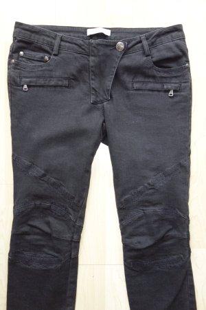 Pierre Balmain Biker jeans zwart Katoen
