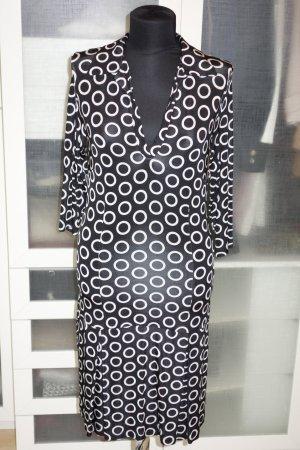 Org. PIU  & PIU Jersey Hemdblusen-Kleid mit Kreismuster Gr.38
