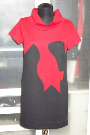 Org. PIU PIU Kleid mit rotem Muster Gr.38